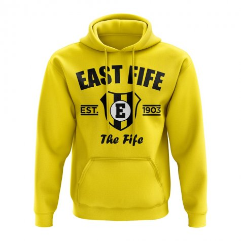 East Fife Established Hoody (Yellow)