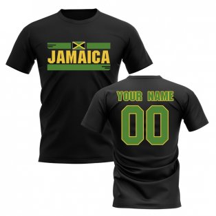 Personalised Jamaica Fan Football T-Shirt (black)