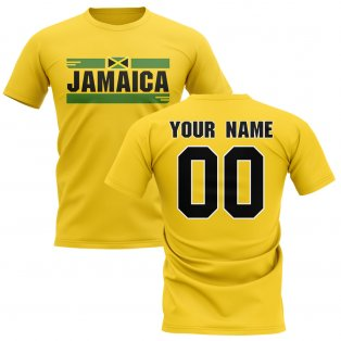 Personalised Jamaica Fan Football T-Shirt (yellow)