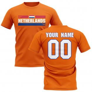Personalised Netherlands Fan Football T-Shirt (orange)