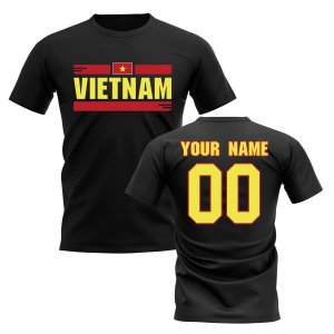 Personalised Vietnam Fan Football T-Shirt (black)