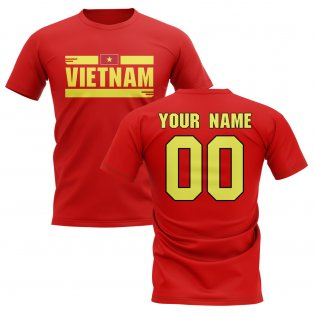 Personalised Vietnam Fan Football T-Shirt (red)
