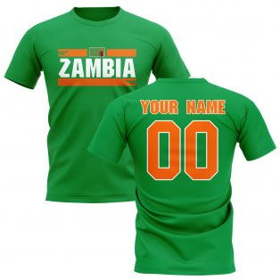 Personalised Zambia Fan Football T-Shirt (green)