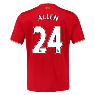 2015-16 Liverpool Home Shirt (Allen 24) - Kids