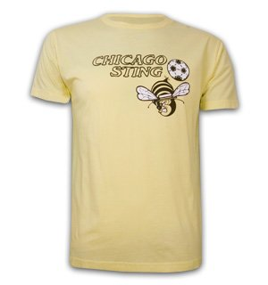 Mens Chicago Sting Basic T and Yellow 100% cotton