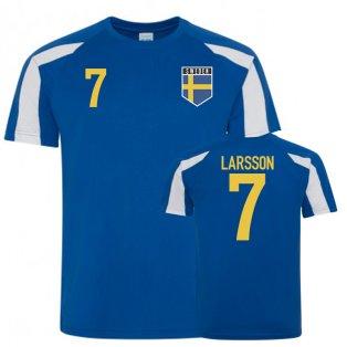 Sweden Sports Style Training Jerseys (Larsson 7)