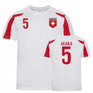 Switzerland Sports Training Jerseys (Akanji 5)