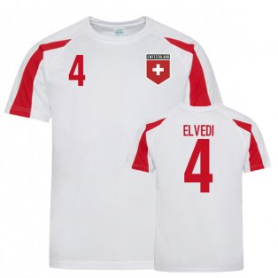 Switzerland Sports Training Jerseys (Elvedi 4)