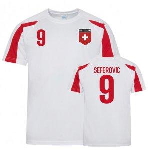 Switzerland Sports Training Jerseys (Seferovic 9)