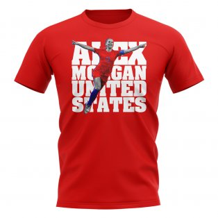 Alex Morgan United States Player T-Shirt (Red)