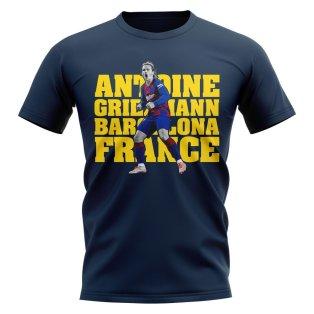 Antoine Griezmann Barcelona Player T-Shirt (Navy)