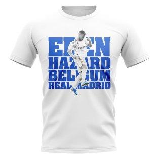 Eden Hazard Real Madrid Player T-Shirt (White)