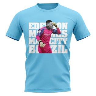 Ederson Manchester City Player T-Shirt (Sky)