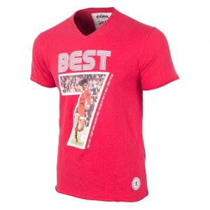 George Best Miss World V-Neck T-Shirt (Red)