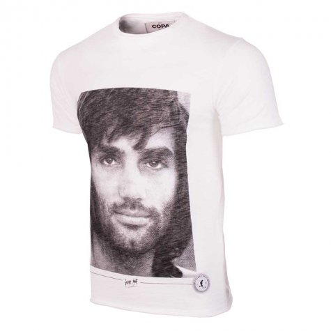 George Best Portrait T-Shirt (White)