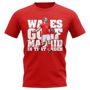 Gareth Bale Wales Golf Real Madrid TShirt (Red)