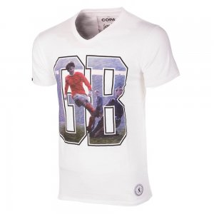 George Best GB1 T-Shirt (White)