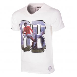 George Best GB1 T-Shirt (White)