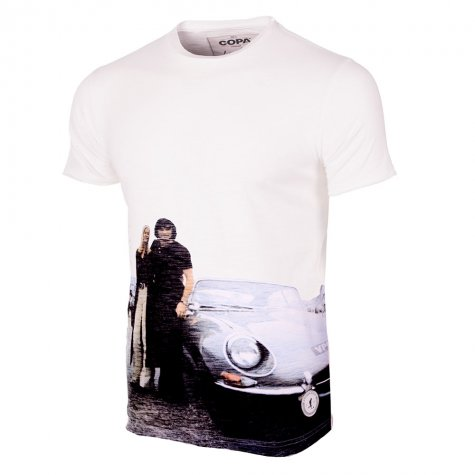 George Best E-Type All Over Print T-Shirt (White)
