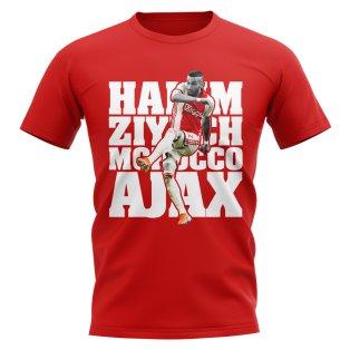 Hakim Ziyech Ajax T-Shirt (Red)