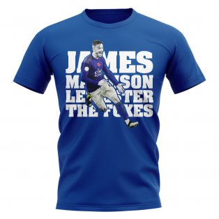 James Maddison Leicester Player T-Shirt (Royal)