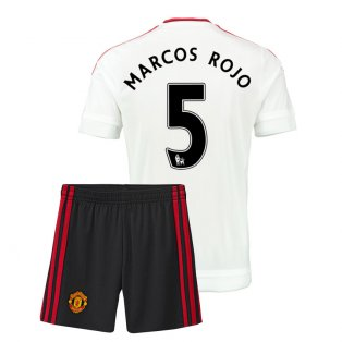 2015-16 Man Utd Away Mini Kit (Marcos Rojo 5)