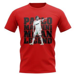 Paolo Maldini AC Milan Player T-Shirt (Red)