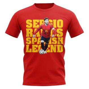 Sergio Ramos Spain Player T-Shirt (Red)