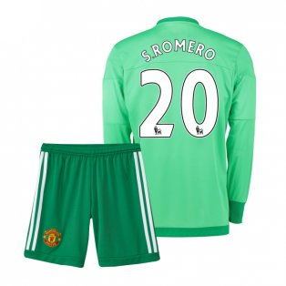 2015-16 Manchester United Home Goalkeeper Mini Kit (S.Romero 20)
