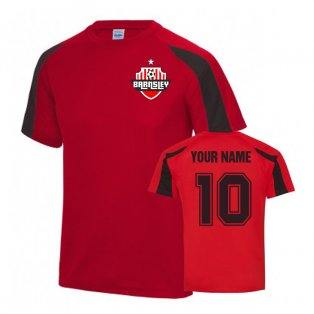 Your Name Barnsley Sports Training Jersey (Red)