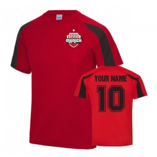 Your Name Bayern Munich Sports Training Jersey (Red)