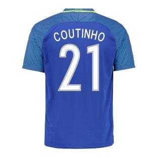 2016-17 Brazil Away Shirt (Coutinho 21)