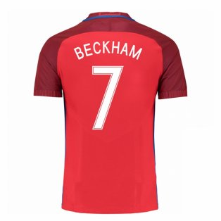 2016-17 England Away Shirt (Beckham 7) - Kids