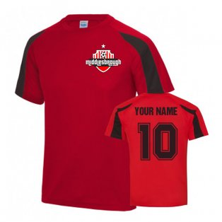 Your Name Middlesbrough Sports Training Jersey (Red)
