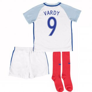 2016-17 England Home Little Boys Kit (Vardy 9)