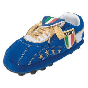 Italy Sloffies - Football Slippers (Blue) - Size Small