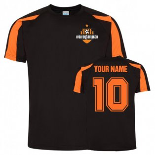 Your Name Wolves Sports Training Jersey (Black)