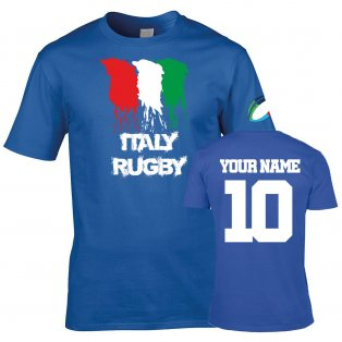 Italy Country Rugby T-Shirt (Your Name)