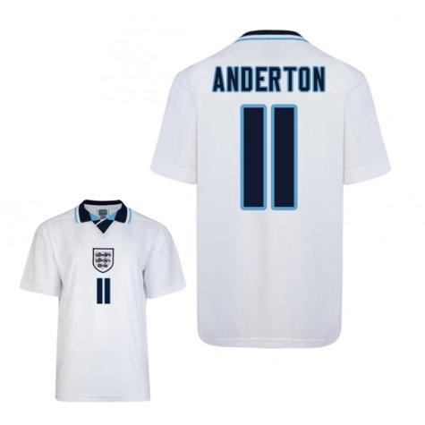 Score Draw England Euro 1996 Home Shirt (Anderton 11)
