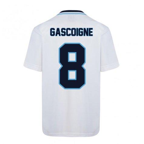 Score Draw England Euro 1996 Home Shirt (Gascoigne 8)