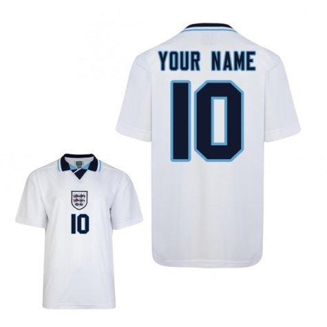 Score Draw England Euro 1996 Home Shirt (Your Name)