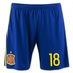 2016-17 Spain Home Shorts (18) - Kids