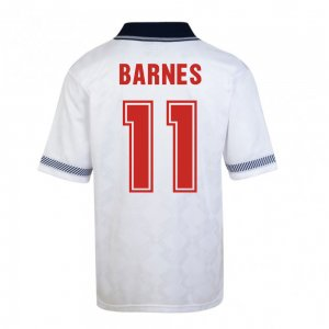 Score Draw England World Cup 1990 Home Shirt (Barnes 11)
