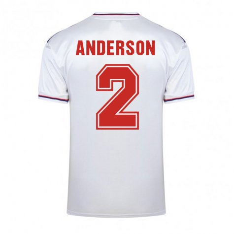 Score Draw England World Cup 1982 Home Shirt (Anderson 2)