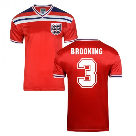 Score Draw England World Cup 1982 Away Shirt (Brooking 3)