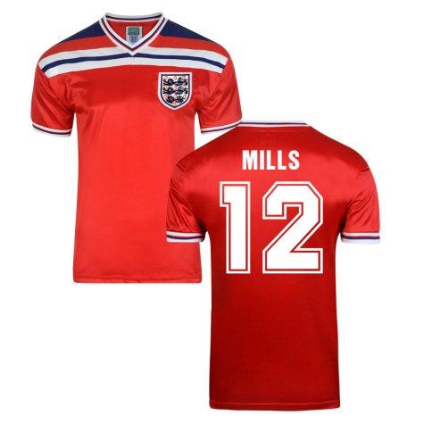 Score Draw England World Cup 1982 Away Shirt (Mills 12)