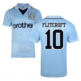 Score Draw Man City 1996 Home Shirt (Flitcroft 10)