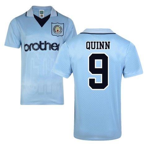 Score Draw Man City 1996 Home Shirt (Quinn 9)
