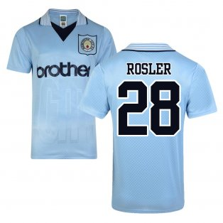 Score Draw Man City 1996 Home Shirt (Rosler 28)