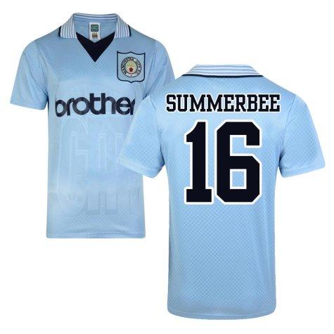 Score Draw Man City 1996 Home Shirt (Summerbee 16)